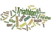 Triathlon, word cloud concept 6