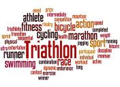 Triathlon, word cloud concept 9