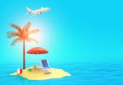 Summer vacation travel illustration