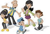 cartoon latin family