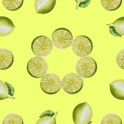 Seamless lemon pattern.Painted with watercolor.