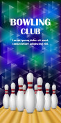 Bowling club banner , realistic style