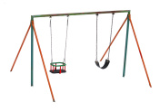 Colorful swing isolated in winter