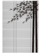 Bamboo blind and bamboo. Landscape of Japan