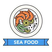 Sea food icons