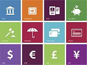 Banking icons | Metro Style