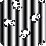 Cartoon Baby  panda animal flat seamless pattern