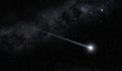 comet star twinkling in the night sky