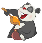 Illustration of  Cute Panda Cartoon Character