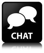 Chat black square button