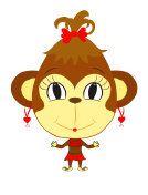 funny monkey girl