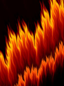 Abstract bright fire flames on black background