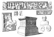 Antique illustration of Seneca's tomb