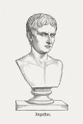 Roman Emperor Augustus (63 BC - 14 AD), published 1878