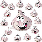 garlic cartoon head