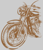 Motorcycle, bike, a hand-painted in the style of grunge