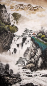 Chinese traditional painting waterfall
