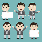 Happy businessman characters