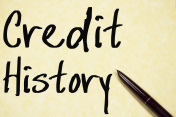 credit history text write on paper