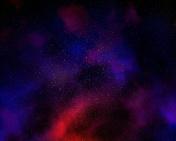 Night sky with nebula and star field