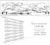 shower curtain snow mountain landscape