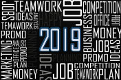 Year 2019 and business concept