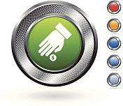 donation royalty free vector art on metallic button