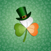 Irish clover with hat for St. Patrick's Day