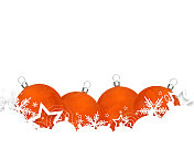 Christmas baubles or ornaments isolated on white
