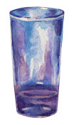Hand painted watercolor shot glass.
