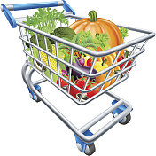 Vegetable Shopping Cart Trolley