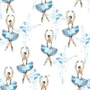 Ballet dancers seamless background