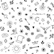 Seamless pattern with decorative elements