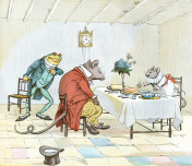 Mealtime for Frog, Miss Mouse and Rat