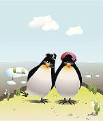 penguine in love