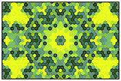 Pop Art-Style Hexagon Mandala