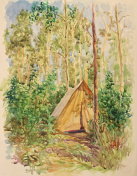 Drawing Tourist Tent