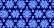 Christmas Blue Purple Snowflake Kaleidoscope Ornament Background