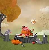 Autumnal sweet pic-nic