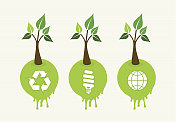 Go green concept tree