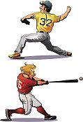 Too Baseball players
