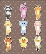 animal sleep stickers