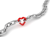 Chrome Chain Connected with Heart