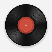 Computer animated picture of an old vinyl record