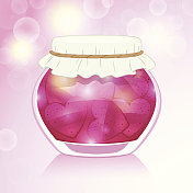 Love potion. Decorative magic jar.