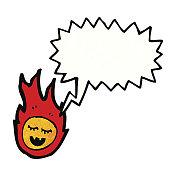 talking meteor cartoon