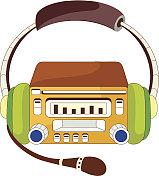 view of radio