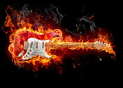Flame guitar