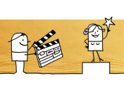 Cartoon characters and movie making
