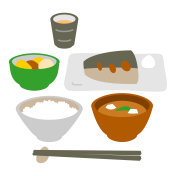 Japanese style fish dish meal